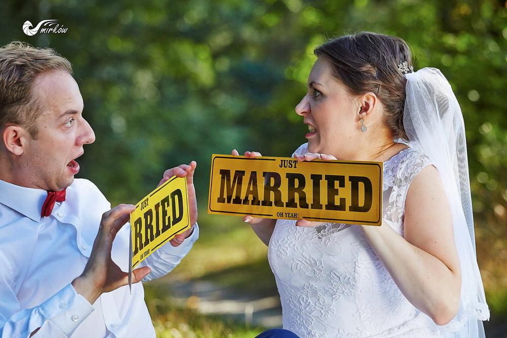 Plener ślubny videomirków dowcipne zdjecia